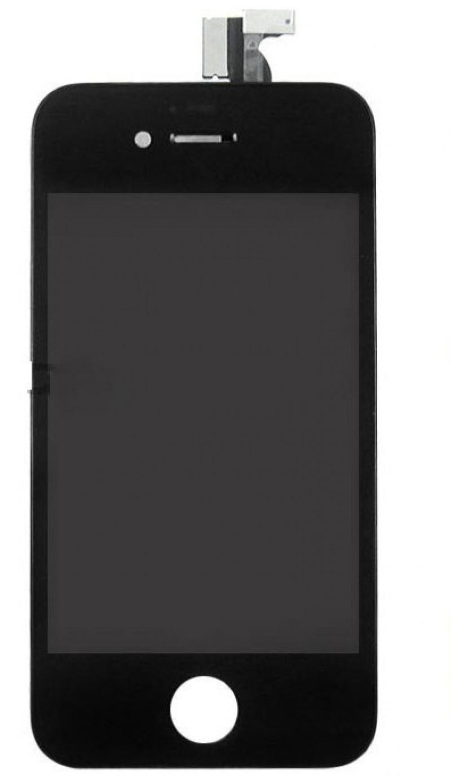 Дисплей iPhone 4S черный (LCD экран, тачскрин, стекло в сборе) high copy