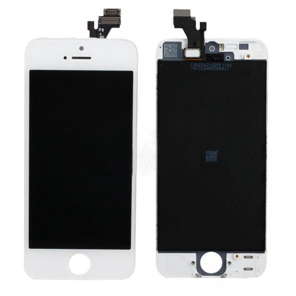 Оригинальный дисплей iPhone 5 белый (LCD экран, тачскрин, стекло в сборе)