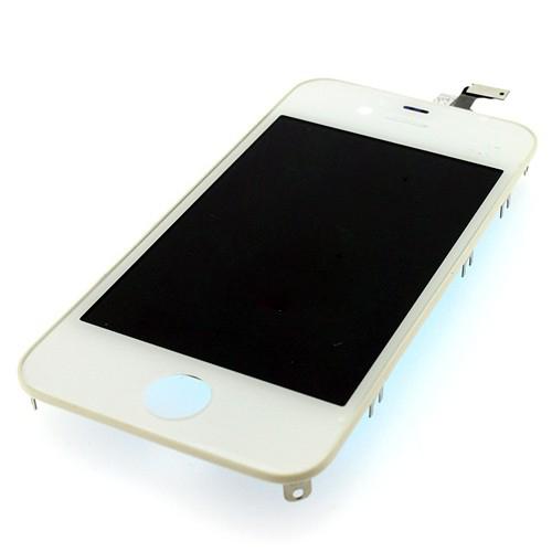 Оригинальный дисплей iPhone 4 белый (LCD экран, тачскрин, стекло в сборе)