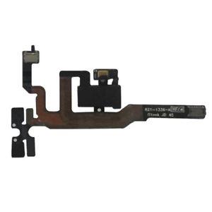 Шлейф (Flat cable) iPhone 4S кнопок звука, коннектора наушников, с компонентами чёрный orig