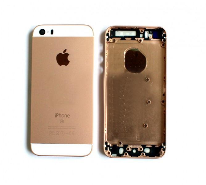 Задняя крышка корпус iPhone SE розовое золото high copy
