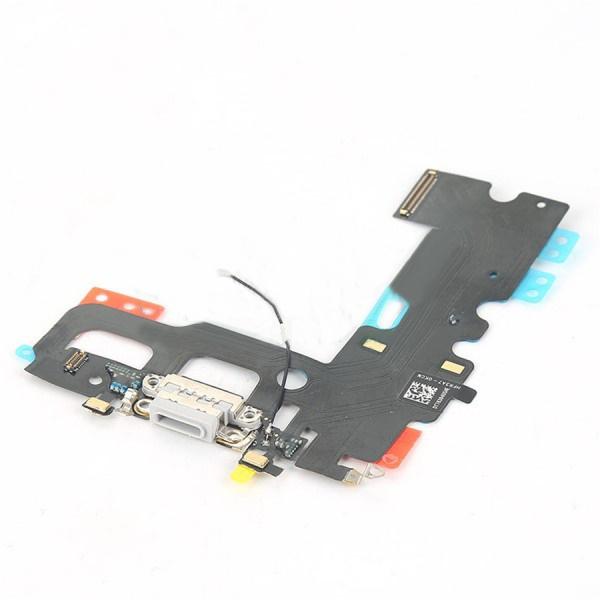 Шлейф (Flat cable) iPhone 7, с разъёмом зарядки и микрофоном, белый orig