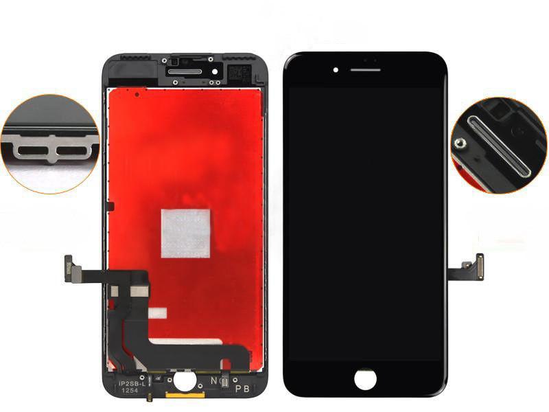 Оригинальный дисплей iPhone 7 Plus черный (LCD экран, тачскрин, стекло в сборе)