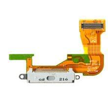 Шлейф (Flat cable) iPhone 3GS с разъемом зарядки, с звонком, с микрофоном, с антенной, белый high copy