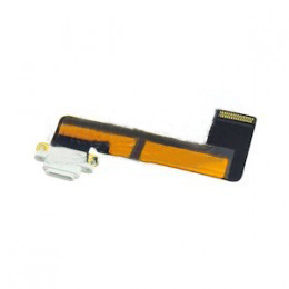 Шлейф (Flat cable) iPad mini c коннектором на зарядку белый orig