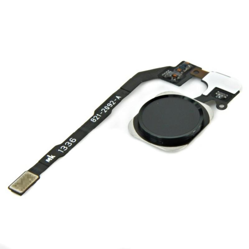 Шлейф (Flat cable) iPhone 5S/ SE кнопки меню и чёрной пластиковой накладкой orig