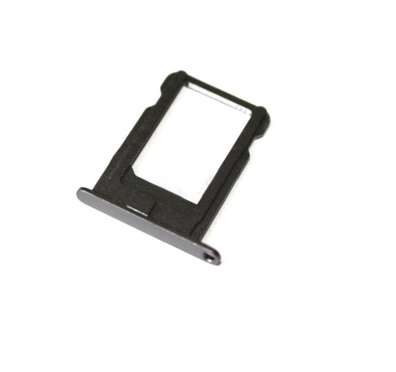 Держатель SIM-карты для iPhone 5S/ SE чёрный orig
