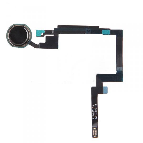 Шлейф (Flat cable) iPad mini 3 под кнопку Home с компонентами + черная накладка orig