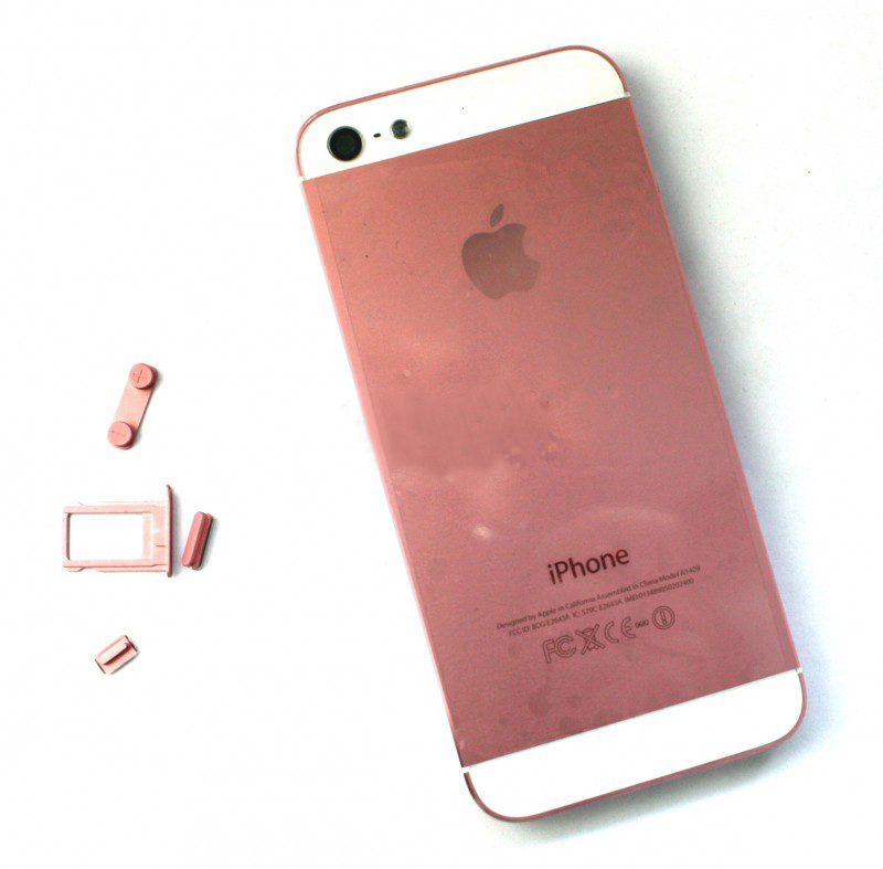 Задняя крышка корпус iPhone 5 розовая orig