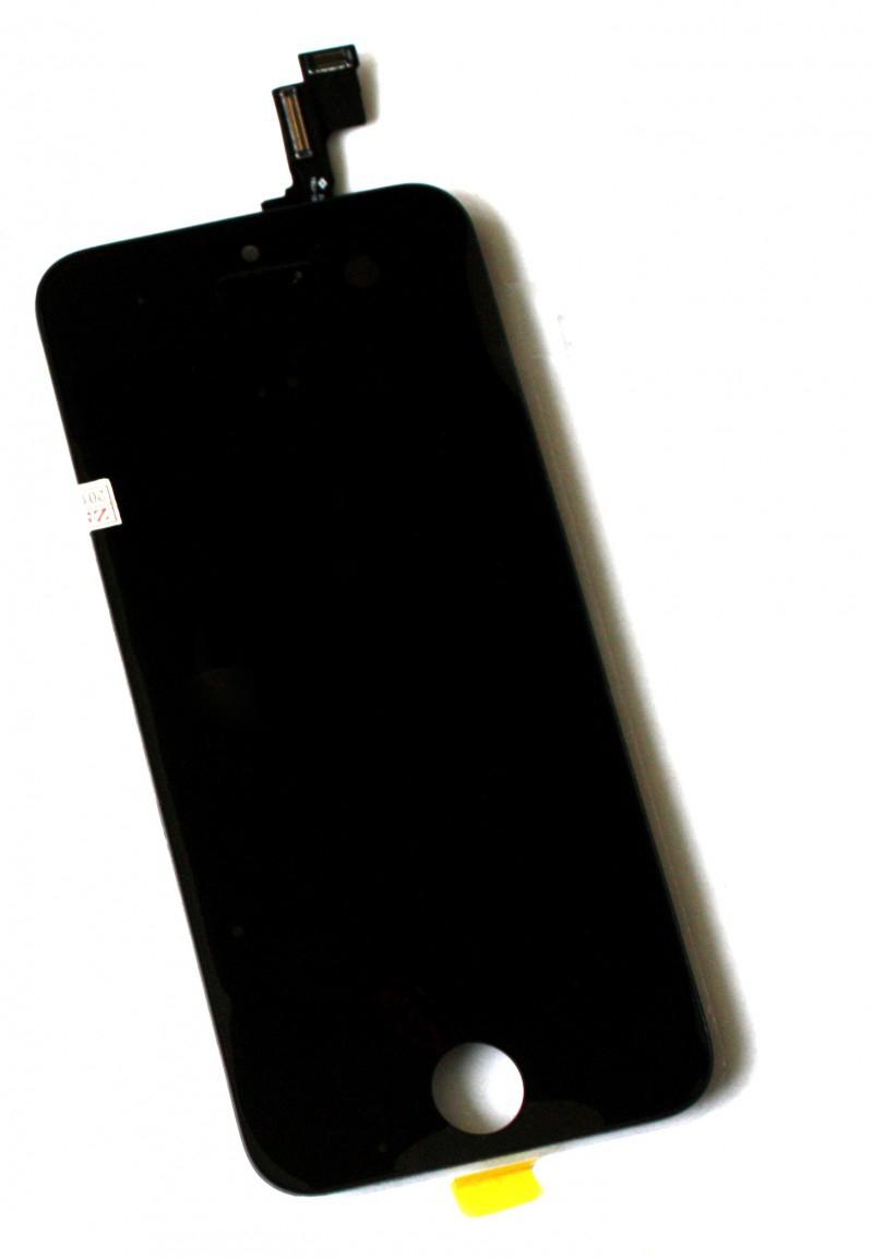 Оригинальный дисплей iPhone 5S черный (LCD экран, тачскрин, стекло в сборе)