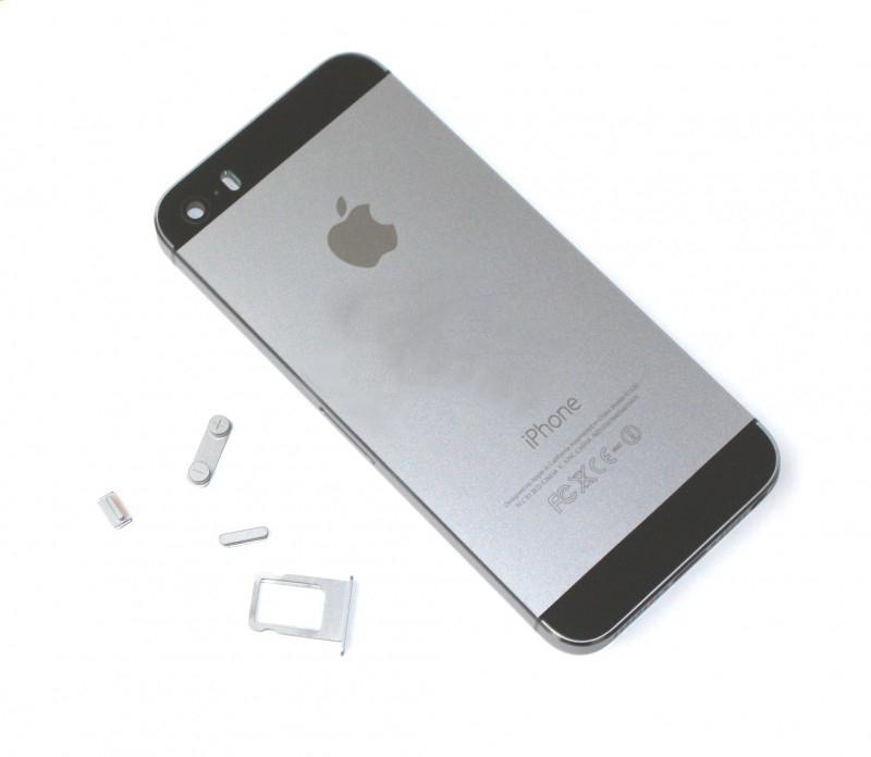 Задняя крышка корпус iPhone 5S серая high copy