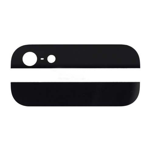 Комплект стекол (верхняя и нижняя) на корпус iPhone 5 чёрное