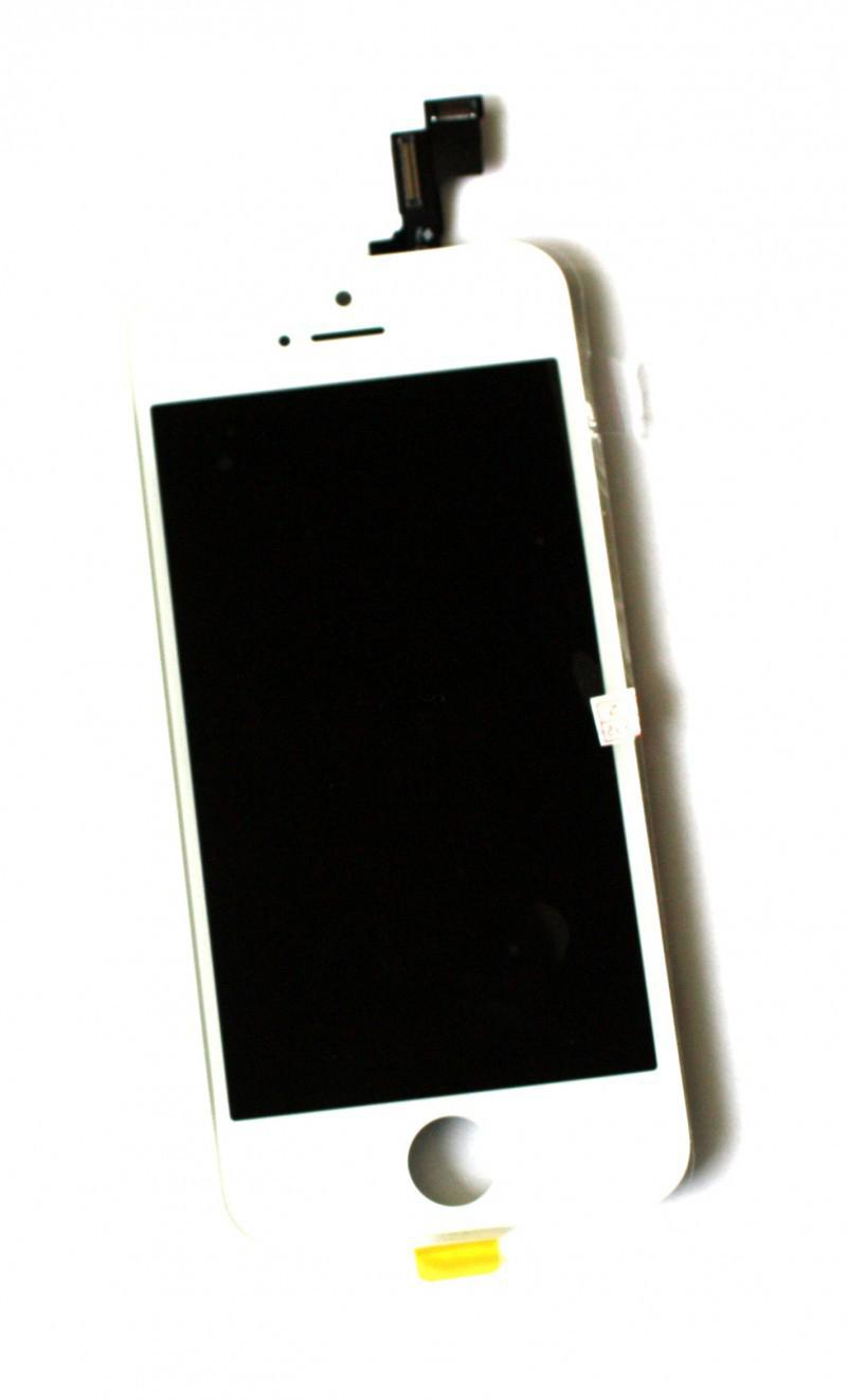 Дисплей iPhone 5S белый (LCD экран, тачскрин, стекло в сборе) high copy