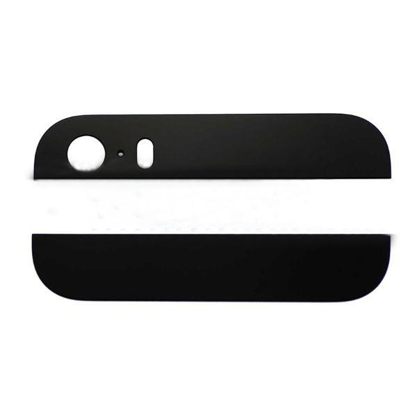 Комплект стекол (верхняя и нижняя) на корпус iPhone 5S/ SE чёрное