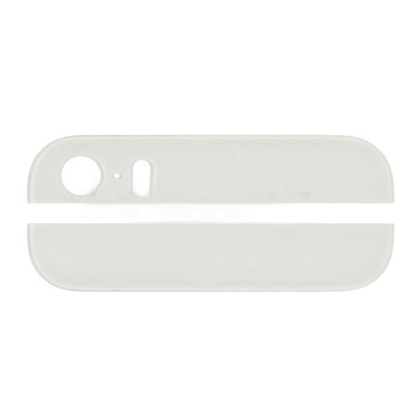 Комплект стекол (верхняя и нижняя) на корпус iPhone 5S/ SE белое