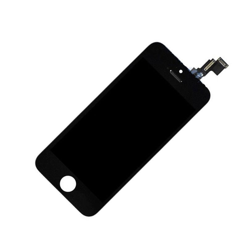 Дисплей iPhone 5C черный (LCD экран, тачскрин, стекло в сборе) high copy
