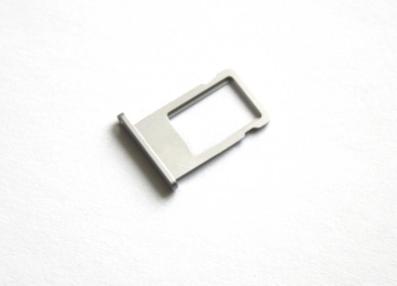 Держатель SIM-карты для iPhone 6 серебро orig