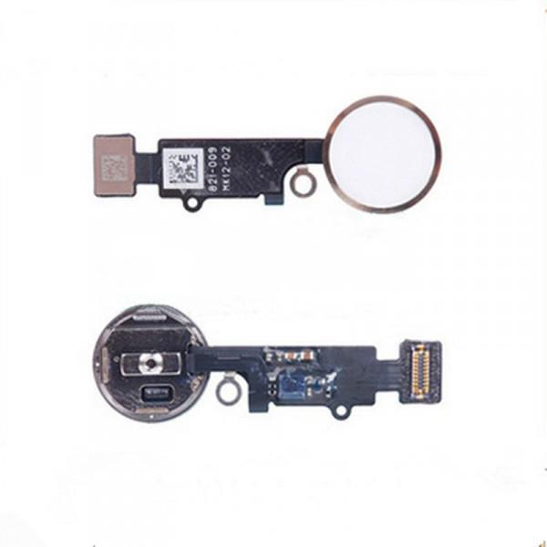 Шлейф (Flat cable) iPhone 7/ 7 Plus, с кнопкой меню и белой пластиковой накладкой orig