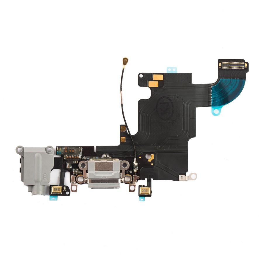 Шлейф (Flat cable) iPhone 6S с разъёмом зарядки, коннектором наушников и микрофоном белый orig