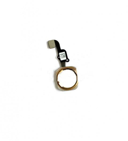 Шлейф (Flat cable) iPhone 6S/ 6S Plus с кнопкой меню и золотой пластиковой накладкой orig