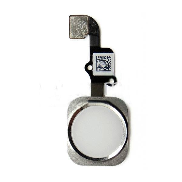 Шлейф (Flat cable) iPhone 6S/ 6S Plus с кнопкой меню и белой пластиковой накладкой orig