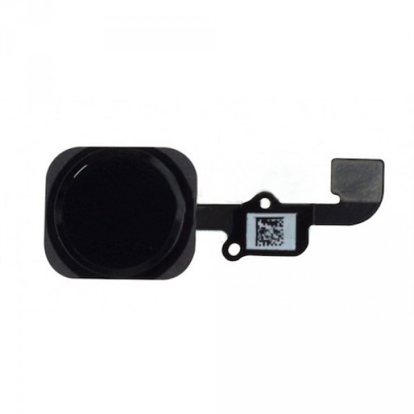 Шлейф (Flat cable) iPhone 6S/ 6S Plus с кнопкой меню и чёрной пластиковой накладкой orig