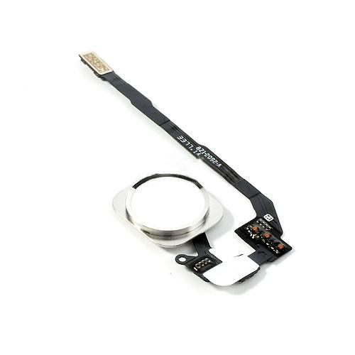 Шлейф (Flat cable) iPhone 5S/ SE кнопки меню и белой пластиковой накладкой orig