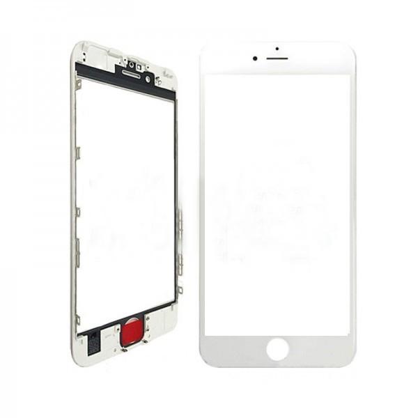 Стекло корпуса iPhone 7 Plus + ОСА пленка с рамкой white