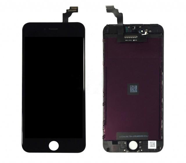 Дисплей iPhone 6 Plus черный (LCD экран, тачскрин, стекло в сборе) high copy