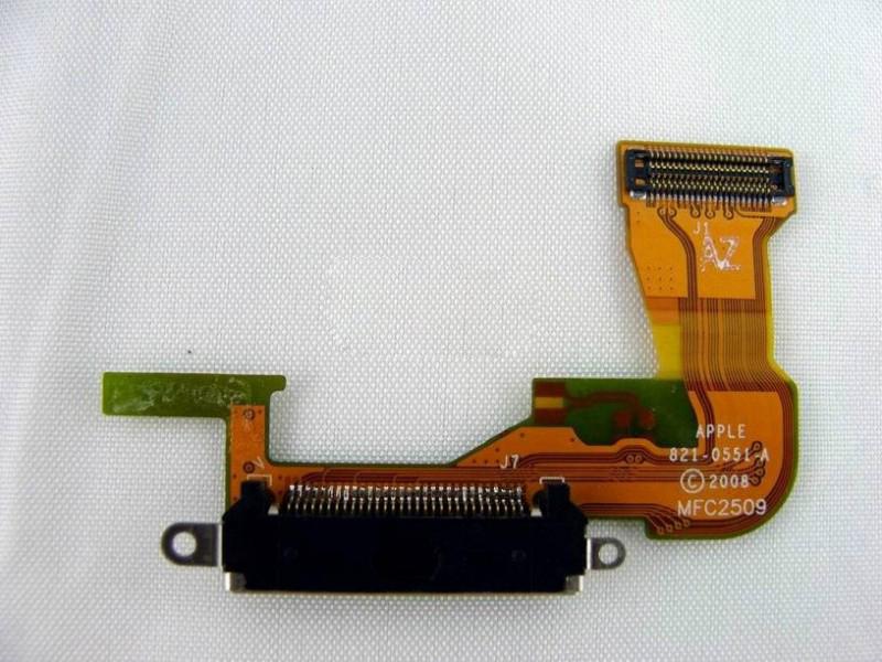 Шлейф (Flat cable) iPhone 3GS с разъемом зарядки, с звонком, с микрофоном, с антенной, чёрный high copy