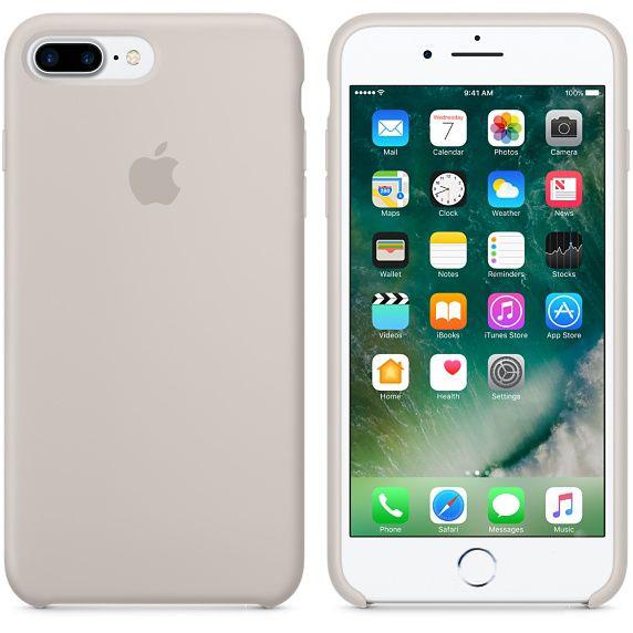 Чехол Apple Silicone Case iPhone 7 Plus Stone (MMQW2)