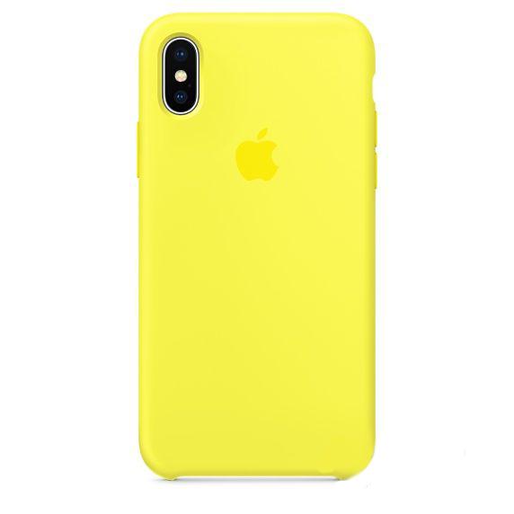 Чехол Apple Silicone Case iPhone X Yellow_HC