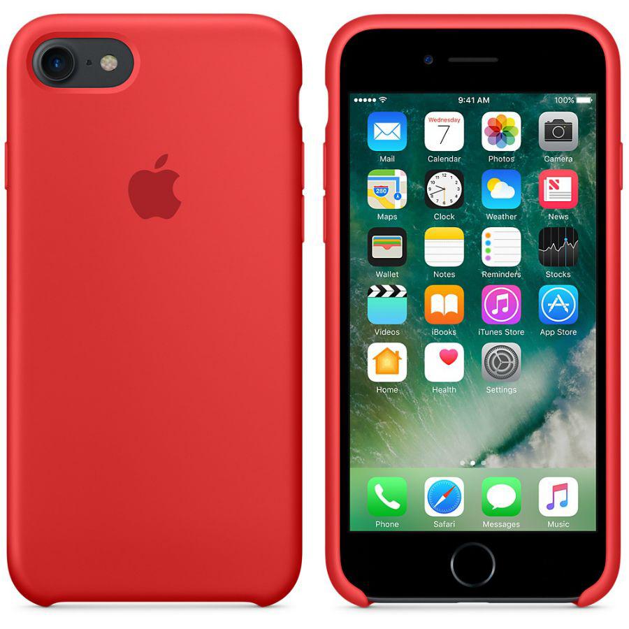 Чехол Apple Silicone Case iPhone 7, iPhone 8 Red (MQGP2_HC)