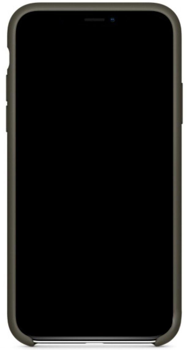 Чехол Apple Silicone Case iPhone X Cocoa_HC