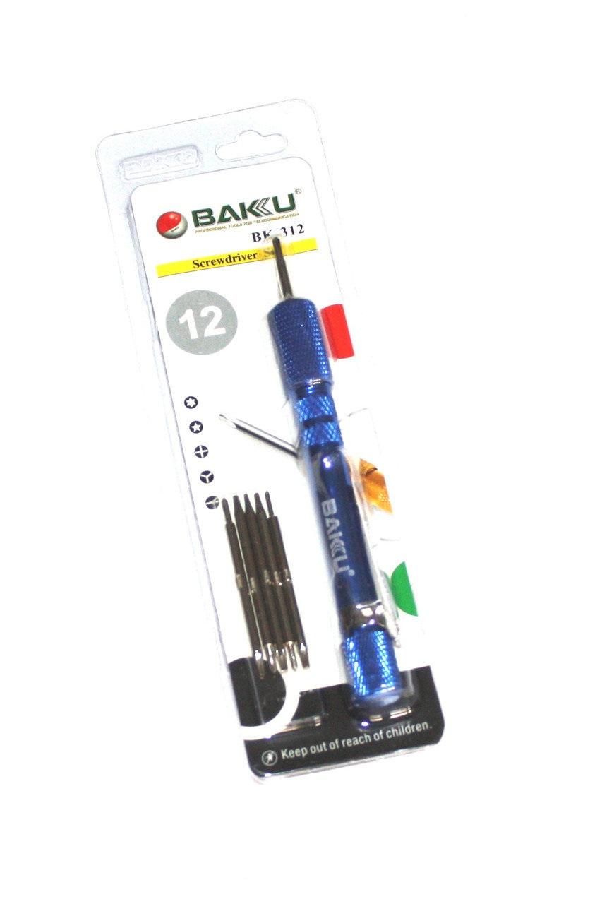 Набор отверток BAKU BK312 ( Ручка + 12 насадок)
