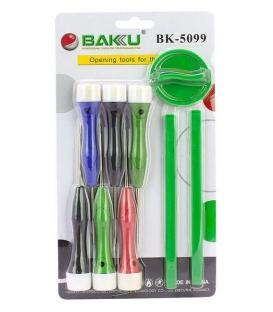 Набор инструментов BAKU BK-5099-A (T3, T4, T5, T6, 2 пластиковые лопатки)