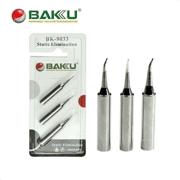 Жало паяльника BAKU BK-9033-I,S,K (ровное,изогнутое,лезвие, 3шт.,для паяльной станции Luckey, Kada)