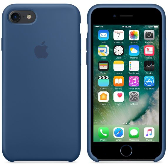 Чехол Apple Silicone Case iPhone 7 Ocean Blue (MMWW2)