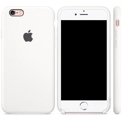 Чехол Apple Silicone Case iPhone 6, iPhone 6S White (MKY12)