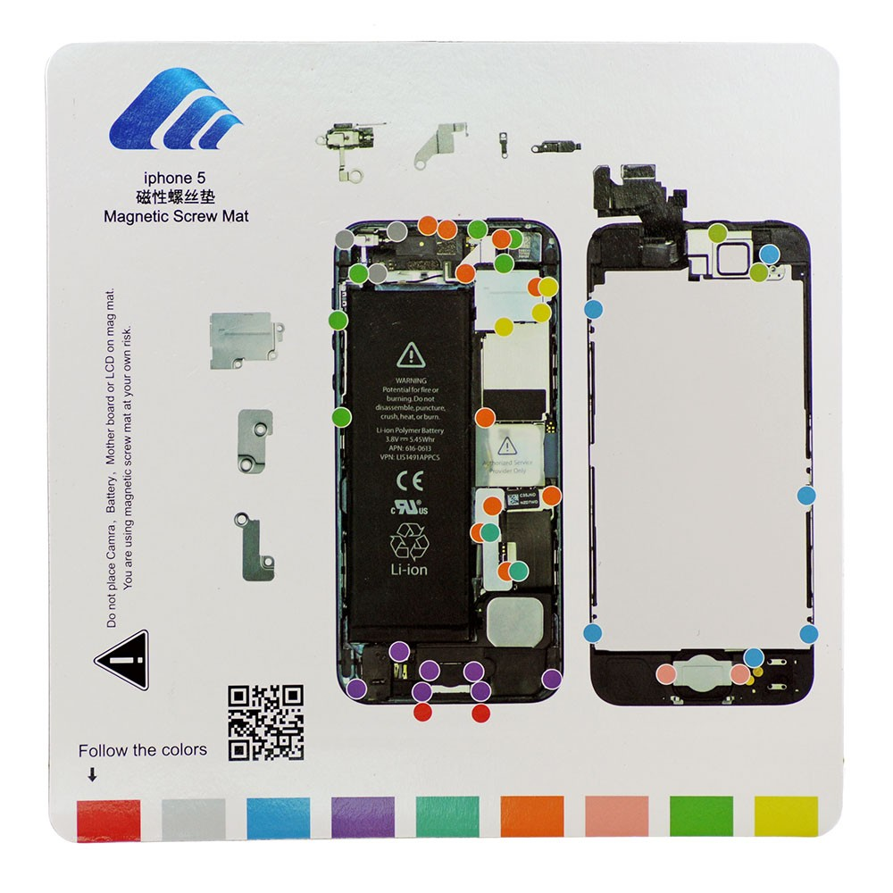 Магнитный мат MECHANIC iP5 для iPhone 5