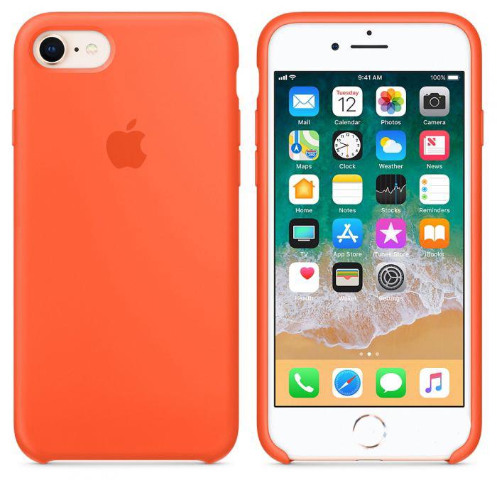 Чехол Apple iPhone 8 Silicone Case Spicy Orange (MR682)