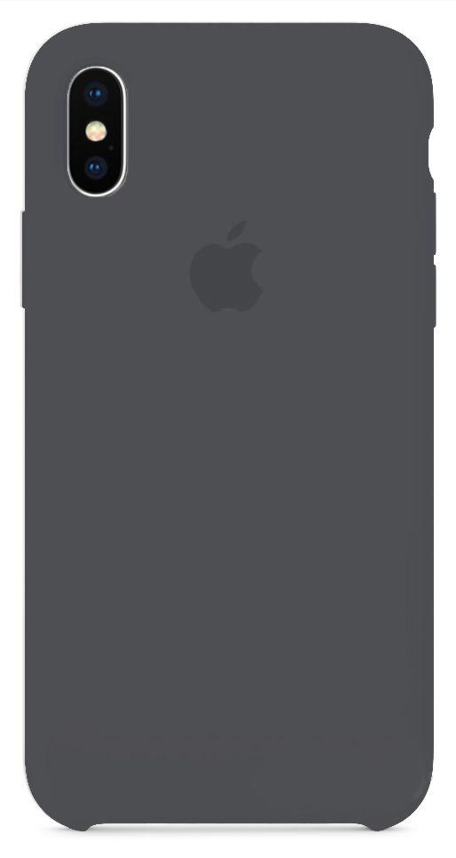 Чехол Apple Silicone Case iPhone X Black_HC