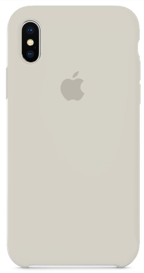 Чехол Apple Silicone Case iPhone X Cream_HC