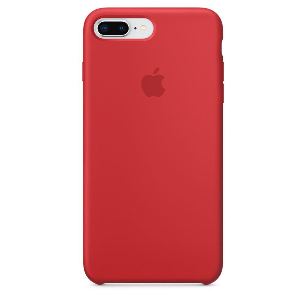 Чехол Apple Silicone Case iPhone 7 Plus, iPhone 8 Plus Red (MQH12)