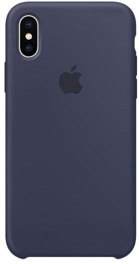 Чехол Apple Silicone Case iPhone X Midnight Blue (MQT32)