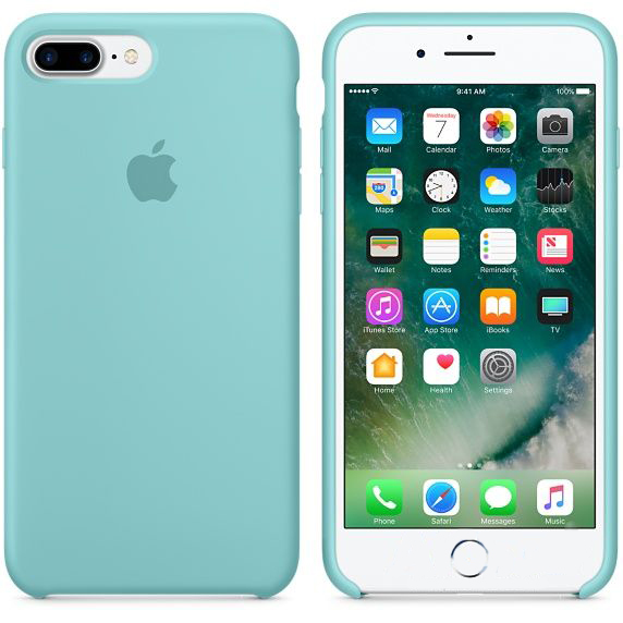 Чехол Apple Silicone Case Apple iPhone 7 Plus, iPhone 8 Plus Turquoise_HC