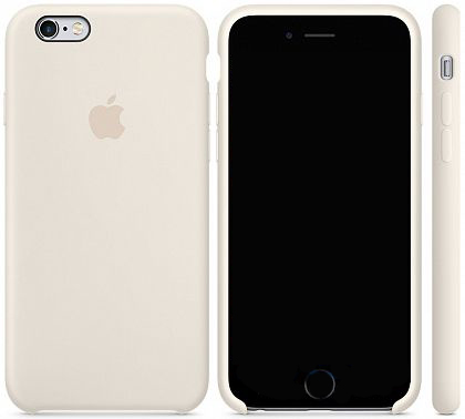 Чехол Apple Silicone Case iPhone 6, iPhone 6S Antique White_HC
