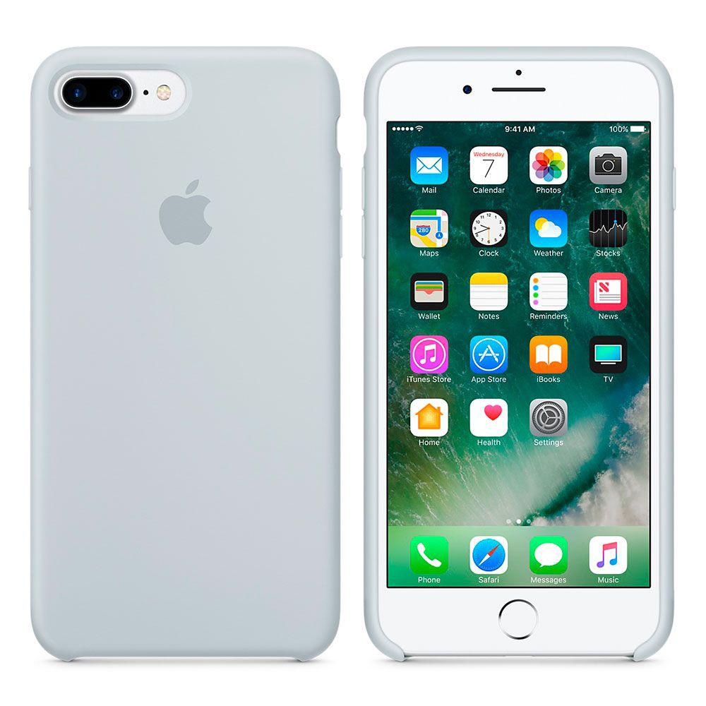 Чехол Apple Silicone Case iPhone 7 Plus, iPhone 8 Plus Mist Blue (MQ5C2)