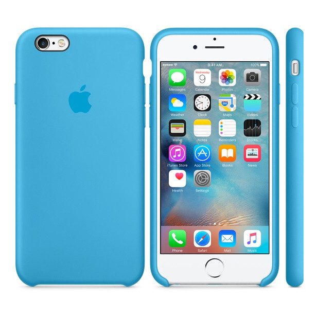 Чехол Apple Silicon Case Apple iPhone 6, iPhone 6S Blue_HC