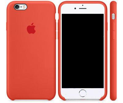 Чехол Apple Silicone Case iPhone 6, iPhone 6S Orange (MKY62)